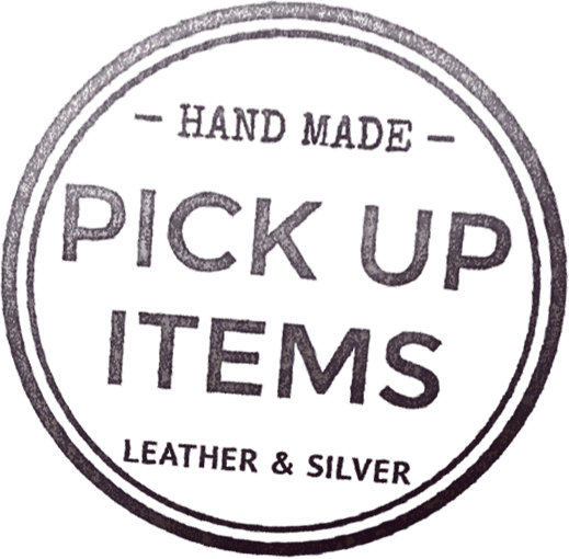 -HAND MADE- PICK UP ITEMS LEATHER & SILVER